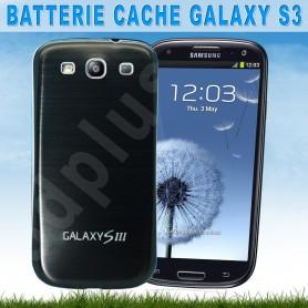 Batterie Cache Alu Brossé Noir Samsung Galaxy S3
