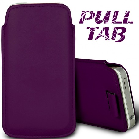 Étui Languette Pull-Up Apple iPhone 5-5S-5C Violet