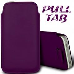 Étui Languette Pull-Up Apple iPhone 5-5S-5C Violet