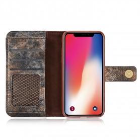 Etui Portefeuille Coloré Simili Cuir Pour iPhone X Détenteurs de cartes