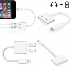 Double Lightning Audio Charge Câble Adaptateur Qualité pour iPhone 7 7 Plus 8 X