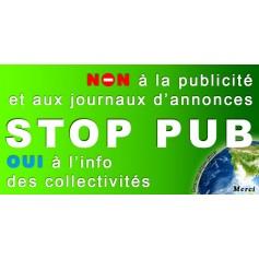 1X Stickers Autocollant Stop-Pub Boite au lettre Anti Pub 100X50 mm