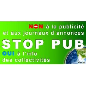 10x Stickers Autocollant Boite au lettre Stop-Pub Anti Pub 100X50 mm