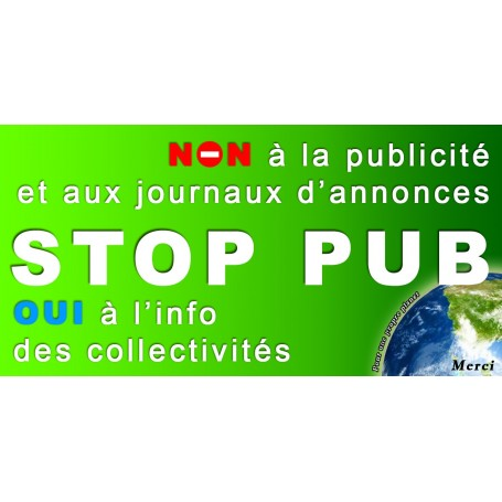 5x Stickers Autocollant Boite au lettre Stop-Pub Anti Pub 100X50 mm PROMO