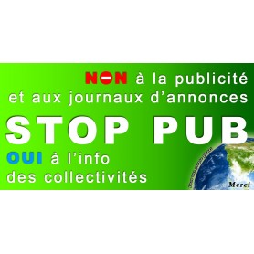 25x Stickers Autocollant Boite au lettre Stop-Pub Anti Pub 100X50 mm PROMO