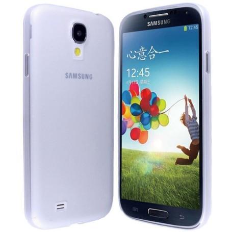 Samsung Galaxy S4 Housse Étui Blanc Extra Fin 0,3 mm