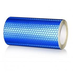 20x300 cm Bande Bleu Réfléchissante Autocollants Avertissement de Sécurité