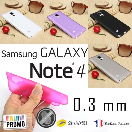 Samsung Galaxy Note 4 Housse Etui Extra Fin 0,3 mm SM-910F