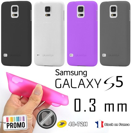 Samsung Galaxy S5 Housse Etui Extra Fin 0,3 mm G900F