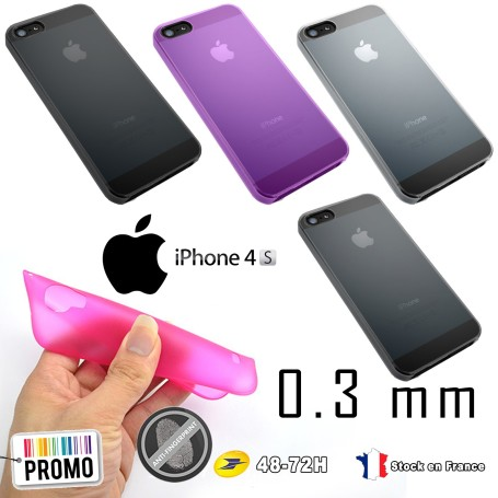 Apple iphone 4s Housse Etui Extra Fin 0,3 mm A1387