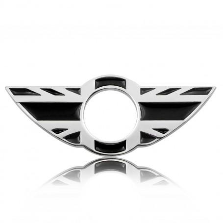 Lot 2x Sticks Badge 3D Métal MINI NOIR BLANC BMW MINI Cooper Porte bouton