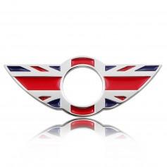 Lot 2x Sticks Badge 3D Métal MINI BLEU ROUGE UK BMW MINI Cooper Porte bouton