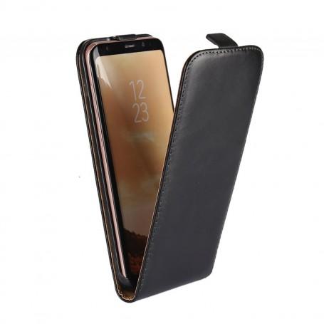 Pour Samsung Galaxy S8 Housse Etui Simili Cuir NOIR Rabat Vertical