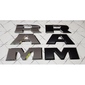 RAM Argent Silver Car Véhicules Badge Argent 3D Lettre Autocollant pour Dodge Ram