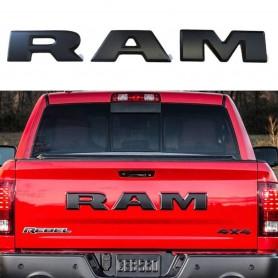 RAM Noir Mat Car Véhicules Badge Argent 3D Lettre Autocollant pour Dodge Ram