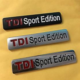 TDI Sport Edition Métal Noir Mat Emblème de voiture autocollant Stickers pour VW POLO GOLF CC TT JETTA GTI TOUAREG