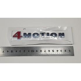 4 MOTION Rouge Argent ABS Badge Emblème de voiture autocollant Stickers pour VW POLO GOLF CC TT JETTA GTI TOUAREG PASSAT