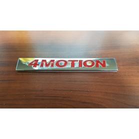 4 MOTION Métal Rouge & Chrome Argent Emblème de voiture autocollant Stickers pour VW POLO GOLF CC TT JETTA GTI TOUAREG