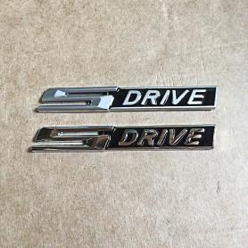 S Drive Métal Chrome Argent Mat Emblème de voiture autocollant Stickers pour BMW X1 X2 X3 X4 X5 X6 X7