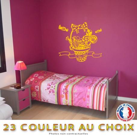 Stickers Bonbons Sucré Panier Enfants Cadeaux Cuisine Mur Déco