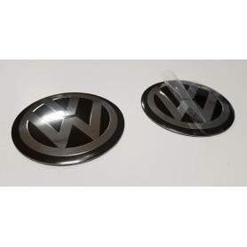 4x Logo Jante Volkswagen 65 mm Alu Cache Centre De Roue Emblème Sticks Autocollant