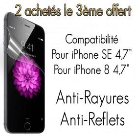 "2x Film pour iPhone SE 2020 4,7"" Anti Rayure Anti-reflets"