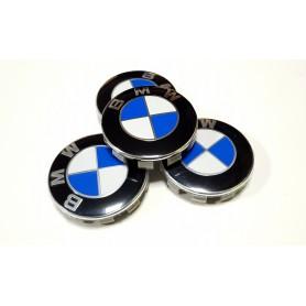 4x Logo Jante BMW 56mm Bleu Blanc Cache Moyeu Centre De Roue Emblème