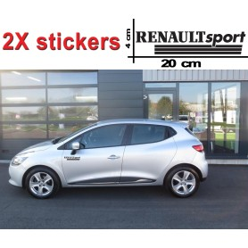 "Stickers ""Renault Sport"" Noir 20x4 cm"