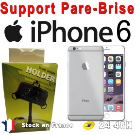 Support Voiture Pare-Brise Fixation Ventouse Apple iphone 6