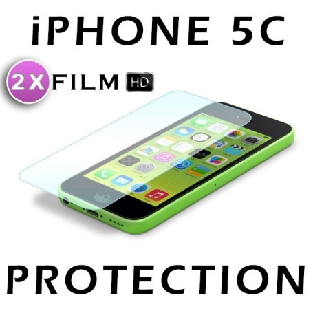 Apple Iphone 5C Lot 2X Film Protection HD Brillant