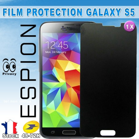 Samsung Galaxy S5 Film protection Anti Espion & Privacy Qualité Optimal Pose sans bulle