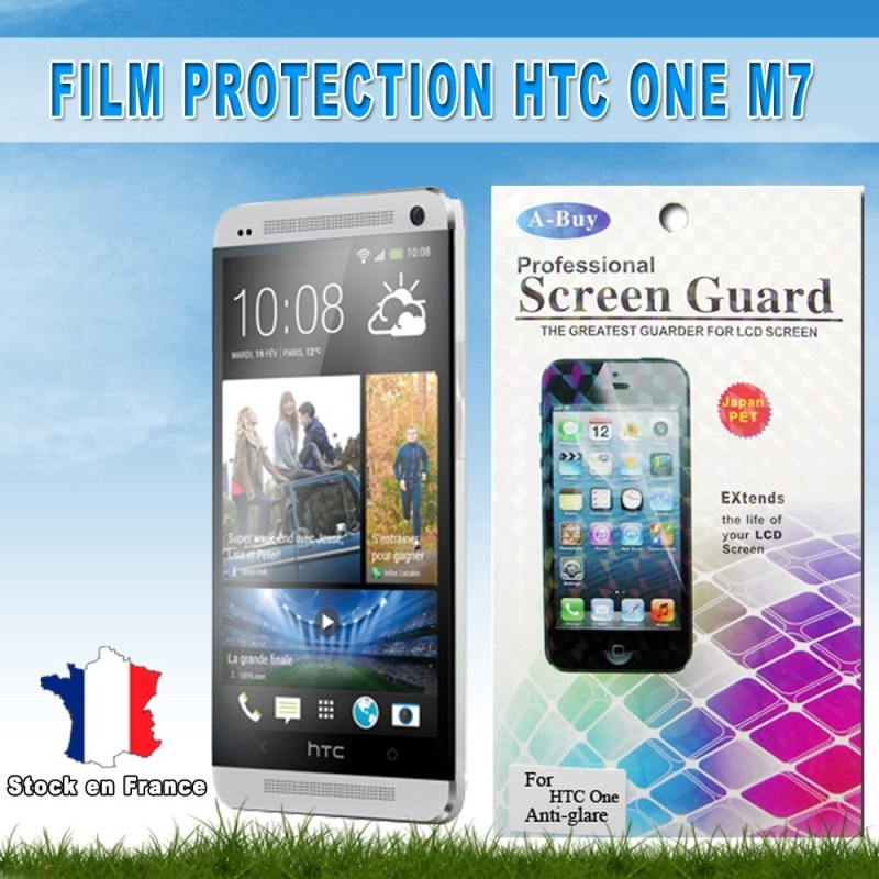 2x Film Protection Anti Rayure HTC One M7