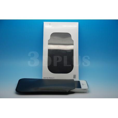 Etui Cuir Véritable Apple Iphone 4s-4 Noir