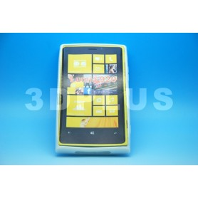 Etui Silicone Gel Fine Nokia Lumia 920 Blanc