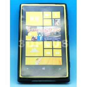 Etui Silicone Gel Fine Nokia Lumia 920 Noir