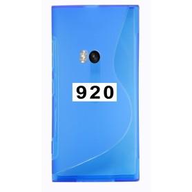 Etui Silicone Gel Fine Nokia Lumia 920 Bleu