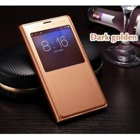 Housse Etui S-view Cover Doré Samsung Galaxy S5 SM-G900F