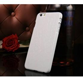 """Etui Blanc Motif Alligator Iphone 6 4,7"""" pouces"""