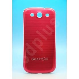 Batterie Cache Alu Brossé Rouge Samsung Galaxy S3