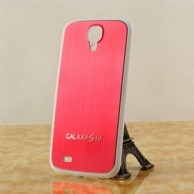 Cache Batterie Alu Brossé Blanc-Rouge Samsung Galaxy S4