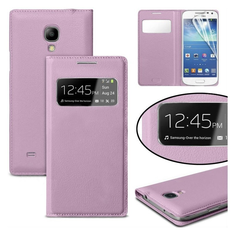 Etui S View Cover Samsung Galaxy S4 Mini Lilas