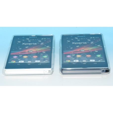 Housse Etui Silicone Gel Gris Sony Xperia Z Design S line