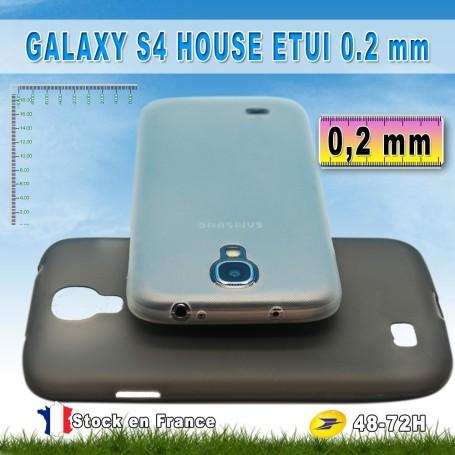 Housse Etui Extra Fin 0,2 mm Noir Samsung Galaxy S4 i9505