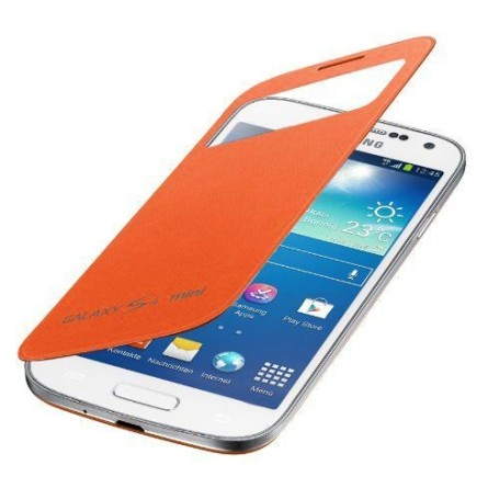 Housse Etui S view Samsung Galaxy S4 Mini Orange