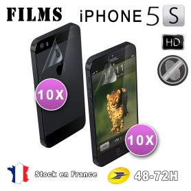 20X Film Protection Anti Reflets Iphone 5-5S 10Av+10Ar