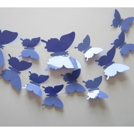 12 Pièces 3D Stickers Papillon Violet Décoration Maison Butterfly 3d