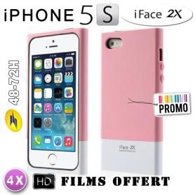 Etui iFace hybird Iphone 5 - 5S Rosé