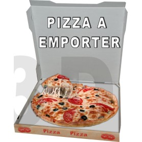 "Stickers ""Pizza à Emporter"" 63X50 cm Pour Restaurant Kebab Pizza Snack"
