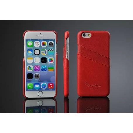 Etui Cuir Véritable Litchi Motif Rosé Phone 6