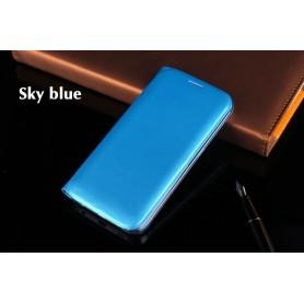 Housse Etui Flip Cover Bleu Ciel Samsung Galaxy S6 Edge SM-G925F